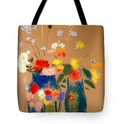 Three Vases Of Flowers Tote Bag by Odilon Redon