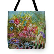 Thriving Ocean -sunken Ship Tote Bag by Katherine Young-Beck