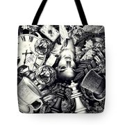 Through The Looking-glass Tote Bag by Mo T