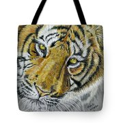 Tiger Painting Tote Bag by Michelle Wrighton