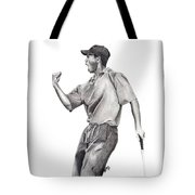 Tiger Woods Iconic Tote Bag by Devin Millington