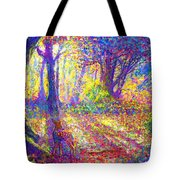 Dancing Shadows Tote Bag by Jane Small