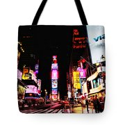 Times Square Tote Bag by Andrew Paranavitana