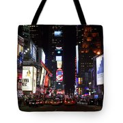 Times Square Colors Tote Bag by John Rizzuto