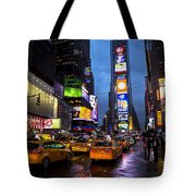 Times Square In The Rain Tote Bag by Garry Gay