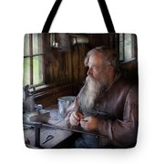 Tin Smith - Making Toys For Children Tote Bag by Mike Savad