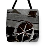 Tired Wagon Tote Bag by Cheryl Young