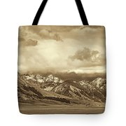 Tobacco Root Mountain Range Montana Sepia Tote Bag by Jennie Marie Schell