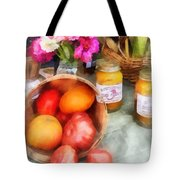 Tomatoes And Peaches Tote Bag by Susan Savad