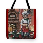 Tommys Italian Kitchen Tote Bag by Victoria De Almeida