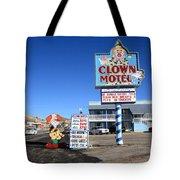 Tonopah Nevada - Clown Motel Tote Bag by Frank Romeo