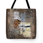 Torn Papers On Wall Tote Bag by Carol Leigh