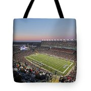 Touchdown New England Patriots  Tote Bag by Juergen Roth