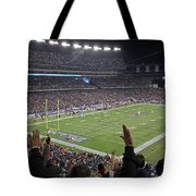 Touchdown Patriots Nation Tote Bag by Juergen Roth
