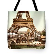 Tour Eiffel And Exposition Universelle Paris Tote Bag by Georgia Fowler