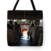 Tourists on the sight-seeing bus run by the Hippo company in Singapore Tote Bag by Ashish Agarwal