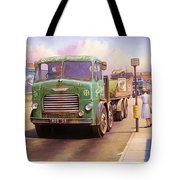 Tower Hill Transport. Tote Bag by Mike  Jeffries