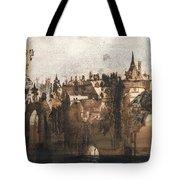 Town With A Broken Bridge Tote Bag by Victor Hugo