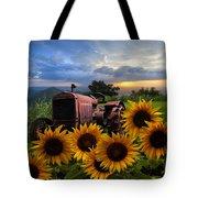 Tractor Heaven Tote Bag by Debra and Dave Vanderlaan