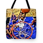 Tracy Mcgrady Painting Tote Bag by Florian Rodarte