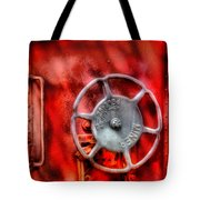 Train - Car - The Wheel Tote Bag by Mike Savad