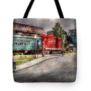 Train - Engine - Black River Western Tote Bag by Mike Savad
