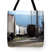 Train Shunting Station Tote Bag by Nicki Bennett