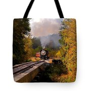 Train Through The Valley Tote Bag by Robert Frederick