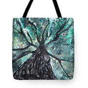 Tree Branches Above Tote Bag by Tara Thelen
