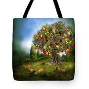Tree Of Abundance Tote Bag by Carol Cavalaris