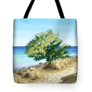 Tree On The Beach Tote Bag by Veronica Minozzi
