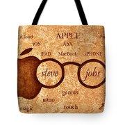 Tribute To Steve Jobs 2 Digital Art Tote Bag by Georgeta  Blanaru