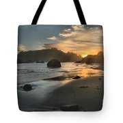 Trinidad Sunset Reflections Tote Bag by Adam Jewell