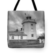 Trinity House Lighthouse Bw Tote Bag by David French