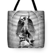 Triumphant Saint Michael Tote Bag by Carol Groenen