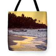 Tropical Beach At Sunset Tote Bag by Elena Elisseeva