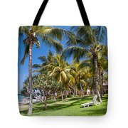 Tropical Beach I. Mauritius Tote Bag by Jenny Rainbow