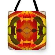Tropical Leaf Pattern 17 Tote Bag by Amy Vangsgard