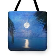 Tropical Moonglow Tote Bag by Betty LaRue
