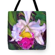 Tropical Orchid Tote Bag by Jane Schnetlage