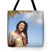 Tropical Vacationer Tote Bag by Brandon Tabiolo
