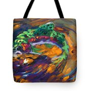 Trout And Fly Tote Bag by Savlen Art