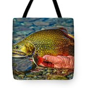 Trout Tote Bag by Edward Fielding