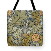 Tudor roses thistles and shamrock Tote Bag by Voysey