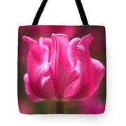 Tulip At Attention Tote Bag by Rona Black