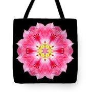 Tulip Peach Blossom IIi Flower Mandala Tote Bag by David J Bookbinder