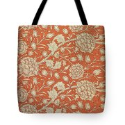 Tulip Wallpaper Design Tote Bag by William Morris