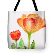 Tulips Orange and Red Tote Bag by Ashleigh Dyan Bayer