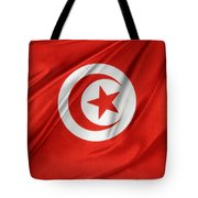 Tunisia Flag Tote Bag by Les Cunliffe