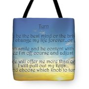 Turn Tote Bag by Angelina Vick